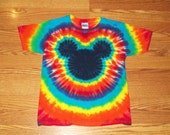 Tie Dye Mickey, S M L xl 2x 3x 4x 5x 6x, Kids, Adult, Plus Size tie dye Shirt, Mouse tie dye Rainbow