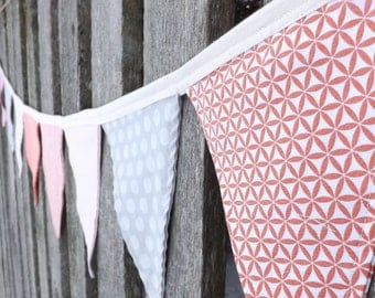 Baby Girl Pink bunting banner garland nursery decor pendant flags baby shower gift ideas photo prop cheerful nursery accent first birthday
