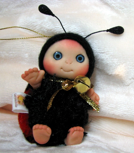 Ladybug,  Lucky Charm  , Christmas Stocking Staffers , Little Toy Christmas Stocking Filler, Cute Baby Doll , Collectables