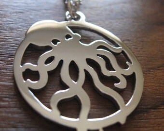 Silver Octopus Handmade Necklace Pendant