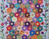The Honey Flow quilt pattern.