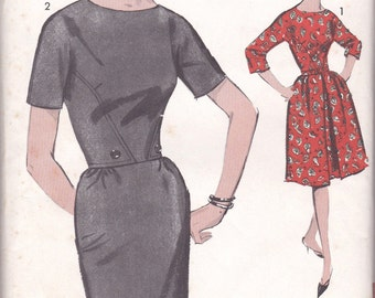 1960s Sophisticated Dress Pattern Advance 3025 Size 12