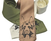 German Shepherd Tie screen printed Dog Necktie