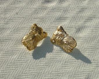 Golden Scottie Dog Findings - Vintage Craft Supplies
