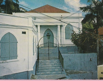 "Ca. 1960s ""Synagogue"" on St Thomas, Virgin Islands Topographical Picture Postcard - 155"