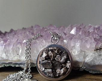 Meteorite Jewelry - Shooting Star - Campo del Cielo - The Phobos Necklace - Galaxy Jewelry - To the Moon and Back