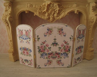 1:12 DOLLHOUSE FIREPLACE PANEL