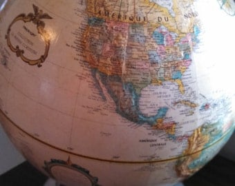 Vintage World Replogle French Globe