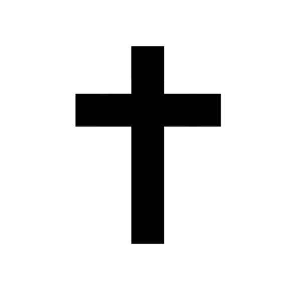 10 Temporary Cross Tattoos, Black Cross Tattoo, Festival Tattoo, Temporary Tattoo, Black Cross