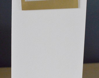 WEDDING ACCEPTANCE CARD Handmade Blank Card Gold Wedding Invitation Reply Acceptance