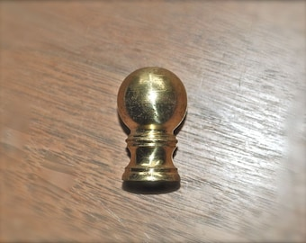 Keep It Simple with This Classic Brass Ball Lamp Finial Vintage Mid Century