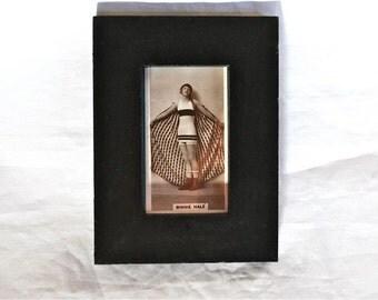 1930s Cigarette Card Binnie Hale Framed, Love the Fabulous Garb