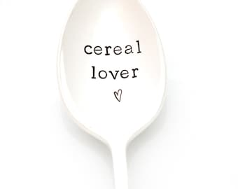 Cereal Lover Spoon. Stamped silverware by Milk & Honey. For lovers, not killers.