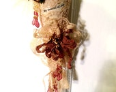 Victorian Christmas Ornament Handcrafted Tussie Mussie with Angel OOAK Holiday Tree Decoration