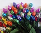 Valentine's day special- 25 Chocolate kiss rosebuds in a candy bouquet