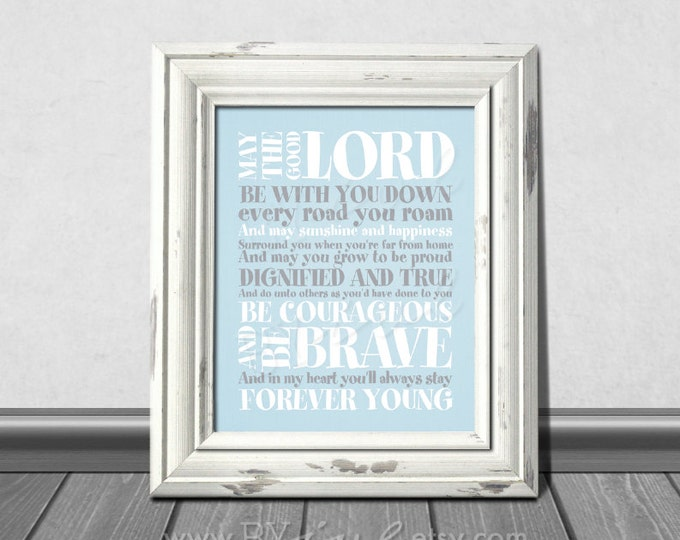 Forever Young Lyrics, Rod Stewart song, Nursery Stripes Theme, Download Immediately
