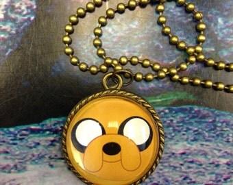 Adventure Time Antique Bronze Pendant - Jake