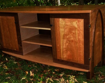 Archie Entertainment Center in Cherry and Walnut