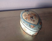 SALE Very Rare french vintage TIN BOX early Chromo lithography on metal Cote d'Or Belgian Chocolate