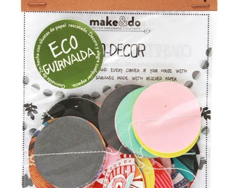ECO GARLANDS_CIRCLES. Beautiful rescued paper garland to decorate.