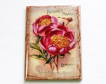 Flower magnet, Kitchen magnet, Floral Magnet, Fridge magnet, Large Magnet, ACEO, stocking stuffer, Pink, magnet, Spring Flowers (4702)