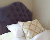 READY TO SHIP - Tufted upholstered headboard - wall mounted - twin size - charcoal velvet