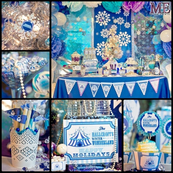 Winter Carnival Party Kit, Holiday Party Decorations, Winter Carnival Birthday, Winter Carnival Party