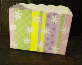 Daisy Dots Stripe Box, Theme Gift Boxes, Decorative Containers, Gift Packaging, Easter Baskets