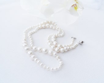 Pearl Necklace - Freshwater Pearls Necklace - Bride Necklace - Princess Necklace - Classic Necklace -Unique Gift - Mother's Day Gift