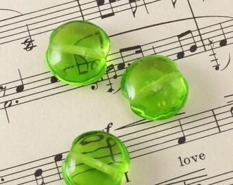 3 Handmade Glass Lampwork Beads 20mm - Vintaj Radiant Spring