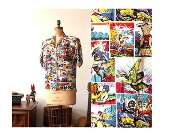 90s Comic Book Blouse