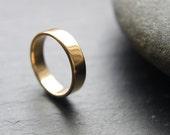 18ct Yellow Gold Wedding Ring, Mens Wedding Band, 5mm Wedding Ring, Shiny Finish, Custom Size