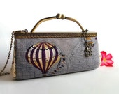 Kiss lock clutch / Hot air balloons / Clutch wallet