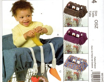 Baby's Grocery Cart Liner & Toys Pattern - McCall's M5124 uncut