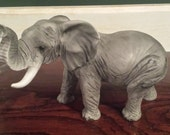 Vintage Castagna Italy Elephant Figurine African Collection