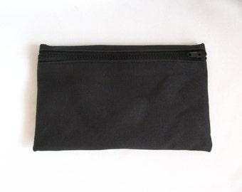 Large Pouch- Black duck cloth canvas