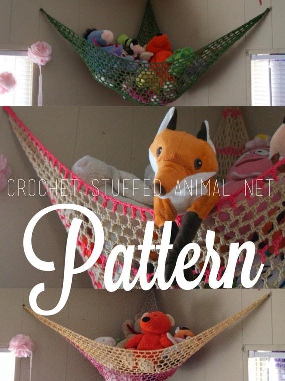 PATTERN // Crochet Stuffed Animal Net Hammock // by ...