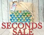 SECONDS SALE Map Hearts Tote Bag