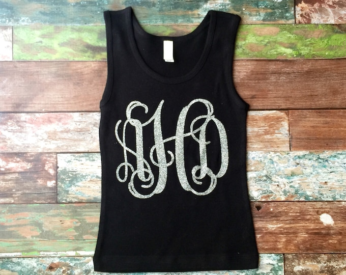 Monogrammed Tank Tops, Girls Monogram Tank Top, Ladies Monogram Tank Top Monogrammed Tank Top, Group Discounts