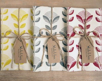 Set of 3 dish towels with Dandelion print