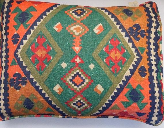 Southwestern Standard Pillow Shams : Vintage Bohemian Southwestern Linen Standard Pillow Sham