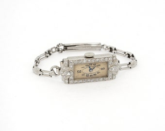Antique Diamond Watch in Platinum