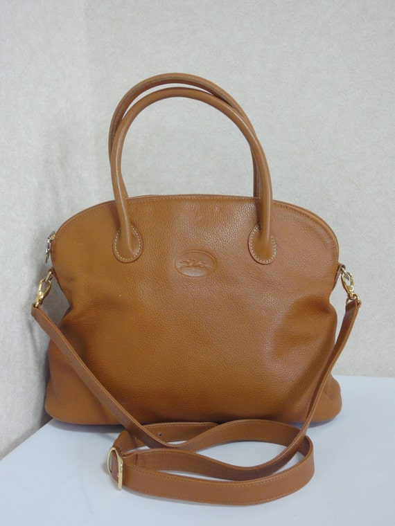 Longchamp Cuir Marron