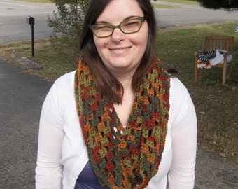 Fall Patterned Infinity Scarf