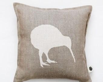 Kiwi bird pillow cover - decorative pillow - kiwi pillow - New Zealand national symbol print cushion - bird throw pillow   0134