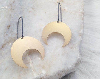 Eclipse --- Large Crecent Earrings
