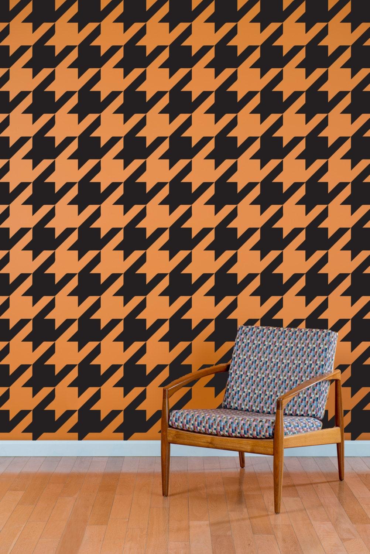 Houndstooth Wall Decal Pattern Wall Decal Custom Vinyl Art