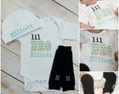 Little Brother Baby Boy Personalized Argyle Leg Warmers Hat Option Newborn Baby Boy Clothes Baby Gift Baby Lil Bro Clothes Clothing
