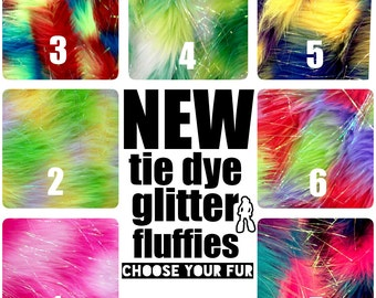 MADE TO ORDER TiE DyE glitter Fluffy Leg Warmers Fluffies choose your fur boots furry bootcovers fuzzy boots gogo rave hippie trippy
