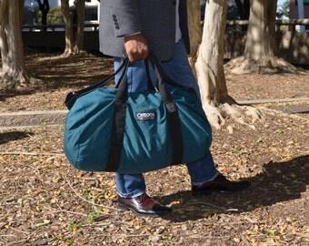 Men's Bag, Large Duffel Bag, Green Bag, Outdoor Duffle Bag, Vintage Tote, Carry On, Gym Bag, Designer Bag, Gift for Men, Camping Gear